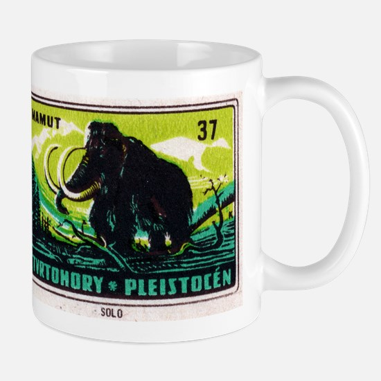 Woolly Mammoth Czechoslovakian Matchbox Label Mug