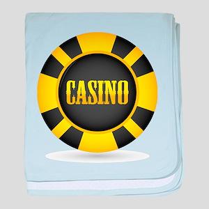 Casino Chip baby blanket