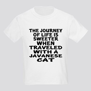 Traveled With javanese Cat Kids Light T-Shirt