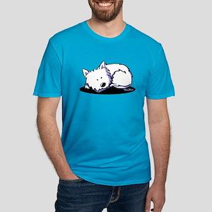 Nap Time Westie Men's Fitted T-Shirt (dark)