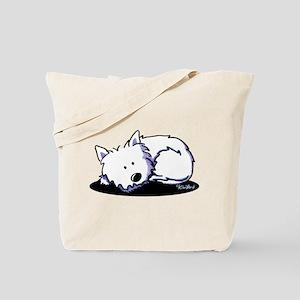 Nap Time Westie Tote Bag