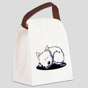 Nap Time Westie Canvas Lunch Bag