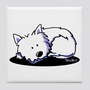 Nap Time Westie Tile Coaster
