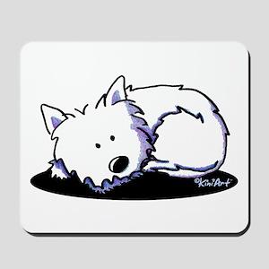 Nap Time Westie Mousepad
