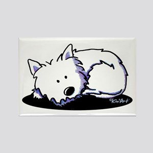 Nap Time Westie Rectangle Magnet