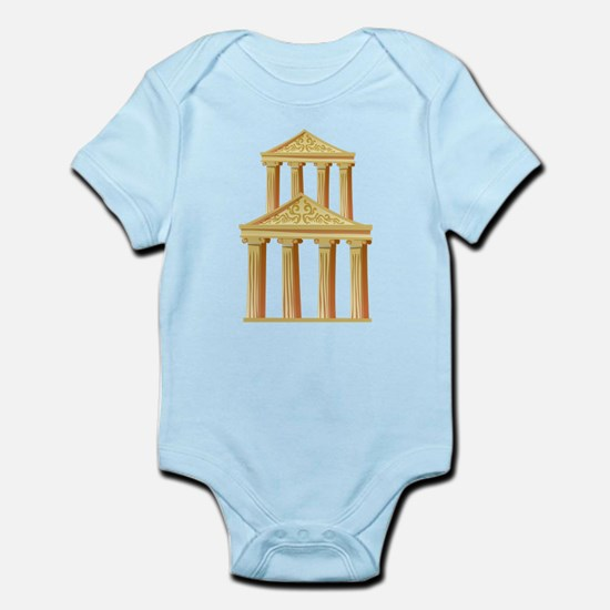 Greek Building Infant Bodysuit