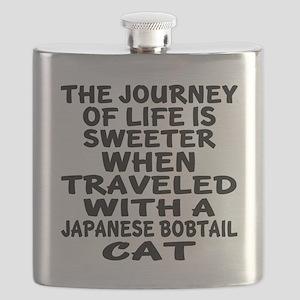 Traveled With japanese bobtail Cat Flask