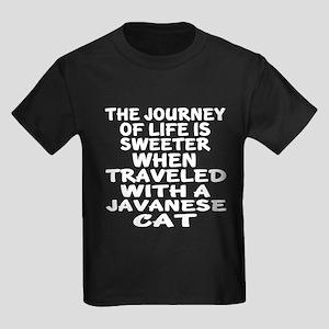 Traveled With javanese Cat Kids Dark T-Shirt