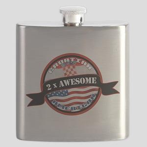 Croatian American 2x Awesome Flask