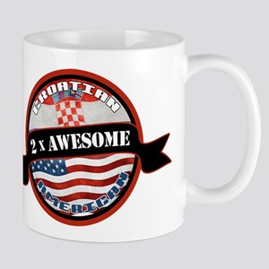 Croatian American 2x Awesome Mug