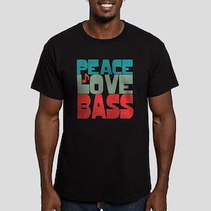 Peace Love Bass Men's Fitted T-Shirt (dark)