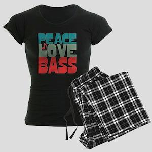 Peace Love Bass Women's Dark Pajamas