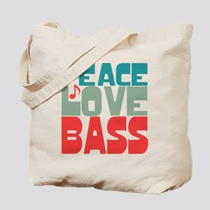 Peace Love Bass Tote Bag