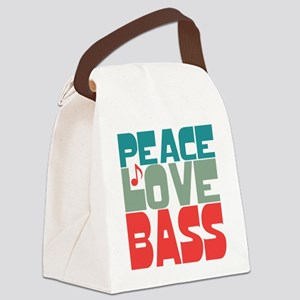 Peace Love Bass Canvas Lunch Bag