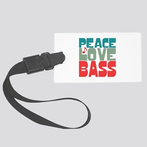 Peace Love Bass Large Luggage Tag
