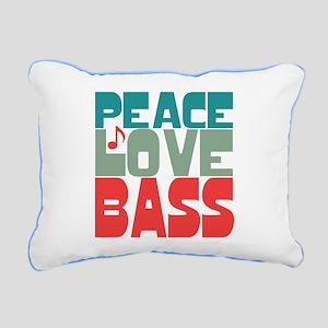 Peace Love Bass Rectangular Canvas Pillow