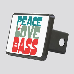 Peace Love Bass Rectangular Hitch Cover