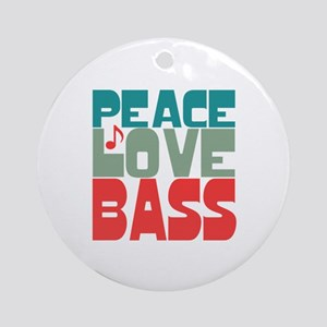 Peace Love Bass Ornament (Round)