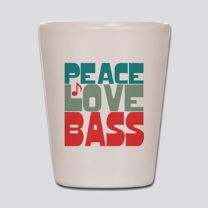 Peace Love Bass Shot Glass