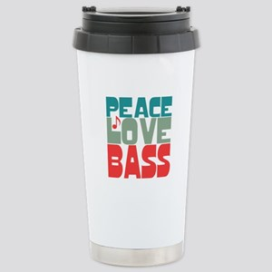 Peace Love Bass Stainless Steel Travel Mug