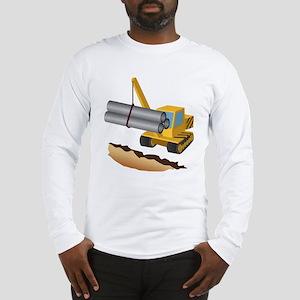 Construction Equipment Long Sleeve T-Shirt