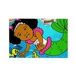 Ezo the Little Mermaid Rectangle Magnet