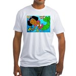 Ezo the Little Mermaid Fitted T-Shirt