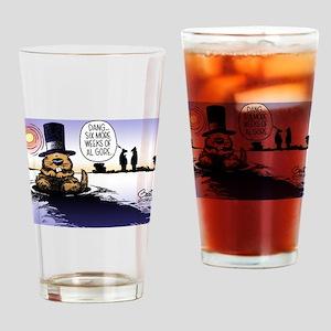 Groundhog Day Drinking Glass
