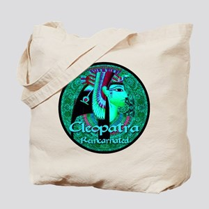 Cleopatra Reincarnated Emerald Carpet Tote Bag