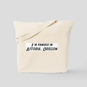 Famous in Astoria Tote Bag