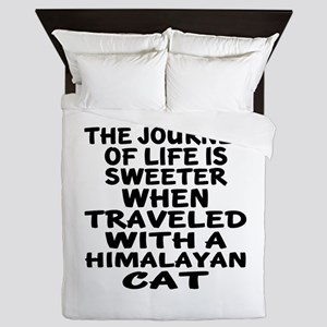 Traveled With Himalayan Cat Queen Duvet