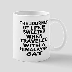 Traveled With Himalayan Cat 11 oz Ceramic Mug