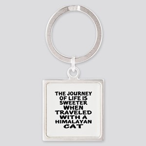 Traveled With Himalayan Cat Square Keychain