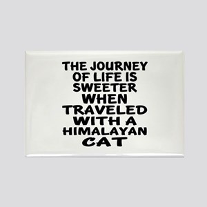 Traveled With Himalayan Cat Rectangle Magnet