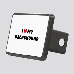 i luv my dachshound Rectangular Hitch Cover