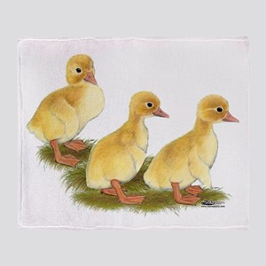 Yellow Ducklings Throw Blanket