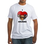 St Valentines Hounds - WWT Fitted T-Shirt