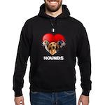 St Valentines Hounds - BWT Hoodie (dark)