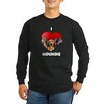 St Valentines Hounds - BWT Long Sleeve Dark T-Shir