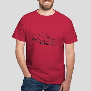 Japanese Cute Roadster Line Dark T-Shirt
