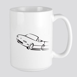 Japanese Cute Roadster Line Large Mug