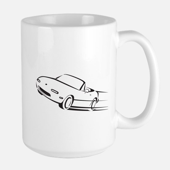 Japanese Cute Roadster Line Large Mug