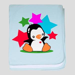 I Love Penguin baby blanket