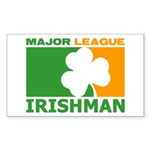 """Major League Irishman"" Sticker (Rectang"
