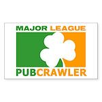 """Major League Pubcrawler"" Sticker"