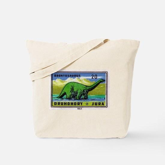 Brontosaurus Czechoslovakian Matchbox Label Tote B
