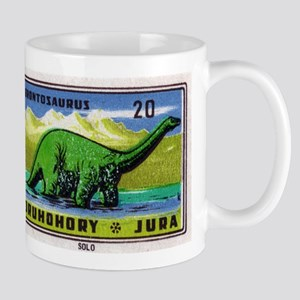 Brontosaurus Czechoslovakian Matchbox Label Mug