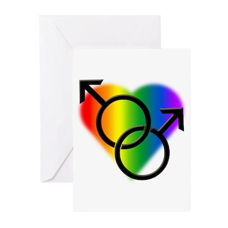 Gay Pride Rainbow Love Greeting Cards (Pk of 20)