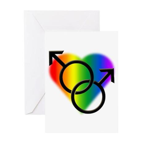 Gay Pride Rainbow Love Greeting Card