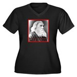Lysander Spooner Women's Plus Size V-Neck Dark T-S